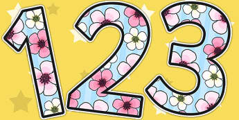 Blossom Themed A4 Display Numbers - blossom, numbers, display