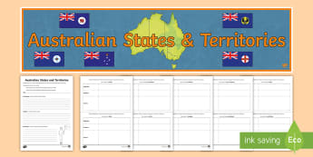 Australian States and Territories Narrative Writing Lesson Pack - Year 3, ACHASSK066, Australian Curriculum, Geography, language, Vocabulary, research, lesson, spelli