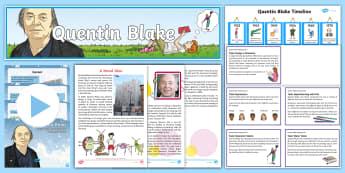 Quentin Blake Activity Pack - Quentin Blake, Art, Illustrator, Illustration, Drawing, Skills, Roald Dahl,Scottish