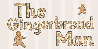 The Gingerbread Man Themed Display Lettering - gingerbread man