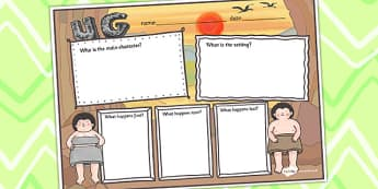Story Review Writing Frame to Support Teaching on Ug - ug, story, review, writing frame
