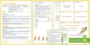 Athletics Lesson 2: Sprinting - sprint, running, sprint start, olympics, competition