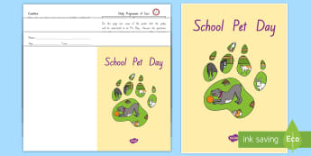 Junior Pet Diary for Pet Day Booklet - New Zealand, Pet Day, Farm Safety, Pet Show, caring, animals, diary, condition, judging