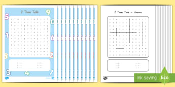 Multiplication 2-12 Times Tables Word Search Activity Pack - New Zealand, maths, pack, multiplication, times tables, activity pack, Year 3, age 7, age 8, multipl