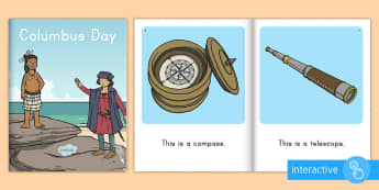 Columbus Day Emergent Reader eBook - christopher columbus, columbus day ebook, heritage, explorers, interactive,