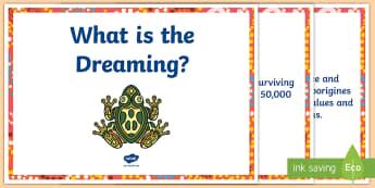 Aboriginal Dreaming Information Display Posters - Aboriginal dreamtime, aboriginal history, dreaming, indigenous history, australian history