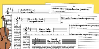 Music Reading Comprehension Activity - music, comprehension, sheet