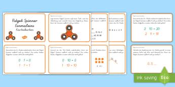 Fidget Spinner Einmaleins : DIN A4 Karteikarten - Karteikarten, Aufgaben, Mathe, Mathematik, Multiplizieren, Multiplikation, Malnehmen, Rechnen, Zahle