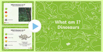 Dinosaurs What Am I? Interactive PowerPoint Game - dinosaur, what am i, interactive, powerpoint, game, activity