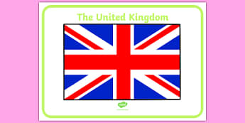Union Jack Display Poster - Flag, country, UK, England, Scotland, Wales,  fine motor skills, colouring, activity, nations, countries, flags