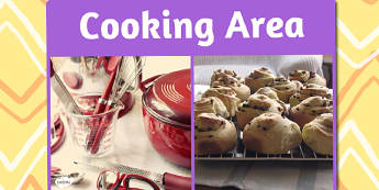 Cooking Area Photo Sign - cooking, area, photo, sign, display