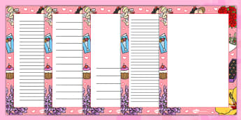 Valentine's Day Decorative Page Border - valentines, page border