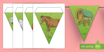 Gypsy, Roma and Traveller Display Bunting - grthm, travellers, bunting, classroom, diversity