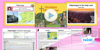 PlanIt - Year 4 - RE Pilgrimages Lesson 2:  Christian Pilgrimages Lesson Pack - Pilgrimage, Christianity, Holy Land, Saints, Miracles, christians, religion, religious, education, R