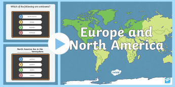 Europe and North America Multiple Choice Pop Quiz - ACHASSK111, Formative, Assessment, Prior Knowledge, Australian Curriculum, Geography, Year 5,Austral