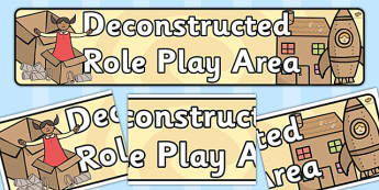 Deconstructed Role Play Area Banner - role play, display banner