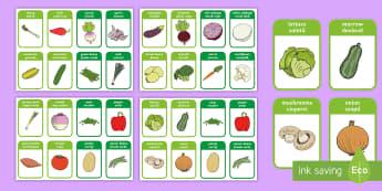 Vegetable Flashcards English/Romanian - Vegetable Flashcards -mr potato head, healthy eating, health, food , healthy eating, flash cards, ve