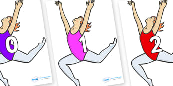 Numbers 0-50 on Ballet Dancers - 0-50, foundation stage numeracy, Number recognition, Number flashcards, counting, number frieze, Display numbers, number posters