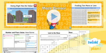 PlanIt Y3 Number and Place Value Lesson Pack Finding More or Less (1) - Number and Place Value, steps of, counting, problem solving, maths mastery, year 3, fun maths, hundr