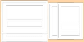 Plain Coloring Page Border Pack - color, coloring pages, plain, borders, classroom paper