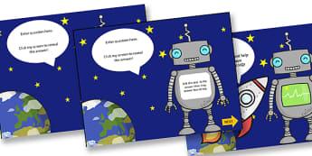 Robot Themed Adaptable Starter and Plenary PowerPoint - robots, starter, plenary, powerpoint, starter powerpoint, plenary powerpoint, themed powerpoint
