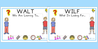 Editable WILF WALT Display Signs - WILF, WALT, classroom signs