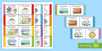 Weather Loop Cards English/Romanian - Weather Loop Cards - weather, loop cards, loop, cards, activity, waether, WHEATHER, wetaher, weaher,
