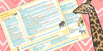Safari KS1 Lesson Plan Ideas - safari, lesson plan, ks1, ideas