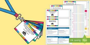 Lanyard-Sized EYFS Curriculum (CoEL, EYOs and Exceeding Descriptors)  - EYFS Assessment Resources