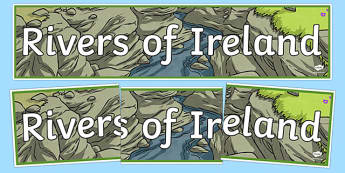 Rivers of Ireland Display Banner-Irish