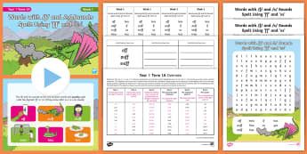 Year 1 Term 1A Week 1 Spelling Pack - Spelling Lists, Word Lists, Autumn Term, List Pack, SPaG