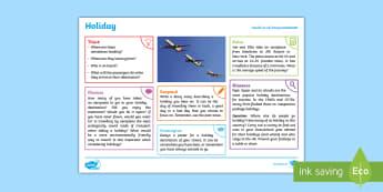 Summer: Holiday KS2 Exploration Sheet - summer, holiday, aeroplane, passport, season, vacation, KS2, Imagine (KS2)