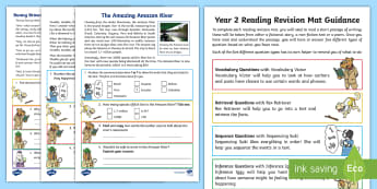 SATs Survival Year 2: Reading Revision Activity Mat Pack 2 - SATs Survival Materials Year 2, SATs, assessment, 2017, English, SPaG, GPS, grammar, punctuation, sp