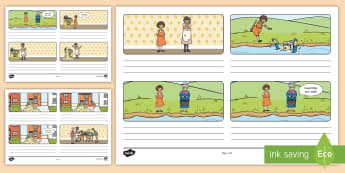 The Magic Porridge Pot Storyboard Template - the magic porridge pot, storyboard, template