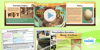 History: The Shang Dynasty: Shang Artefacts UKS2 Lesson Pack 5