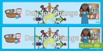 Day For Change Display Banner - EY/KS1 Unicef