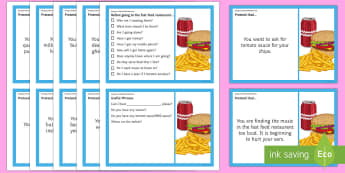 Going to a Fast Food Restaurant Scenarios and Social Scripts