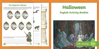 Year 4 Halloween English Activity Booklet - holiday booklet, homework booklet, y4, spag, writing activity, reading activity,