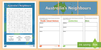 Australia's Neighbours Activity Pack - ACHASSK067, Year 3, australian Curriculum, Geography, display, Formative, Assessment, Prior Knowledg