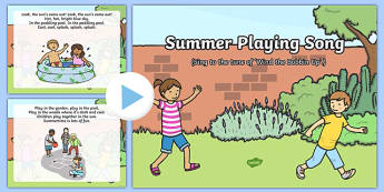 Summer Playing Song PowerPoint