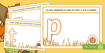 Harvest and Farm Themed Phase 2 Phonics Playdough Mats