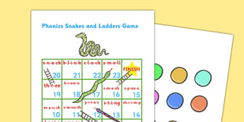 Phase 4 Phonics Snakes And Ladders Blending Game Editable - phonics, blending, game, phase 4, editable, blending, blends, sounds, activity,