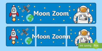 Space Display Banner - KS1, display banner, space, ship, space banner, rocket, alien, launch, foundation stage, topic, moon, stars, planet, planets