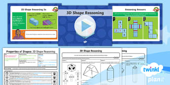 PlanIt Y6 Properties of Shapes Lesson Pack (3) - Properties of Shape, reasoning, 2D shape, 3D shape, shape nets, triangles, polygons, quadrilaterals,