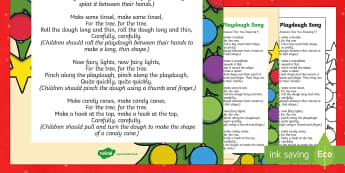 Christmas Tree Playdough Play Song - EYFS, Early Years, Christmas, winter, Playdough Play,Dough Disco, finger gym, fine motor skills, Phy