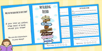 Reading Record Booklet - read, reading, book, book record, record