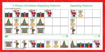 Christmas Picture Repeating Patterns Activity Sheets