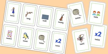 TW Flash Cards - sen, sound, special educational needs, tw, flash cards