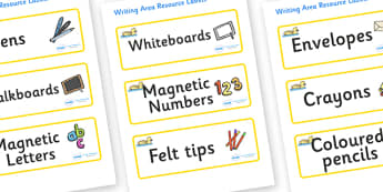 Gosling Themed Editable Writing Area Resource Labels - Themed writing resource labels, literacy area labels, writing area resources, Label template, Resource Label, Name Labels, Editable Labels, Drawer Labels, KS1 Labels, Foundation Labels, Foundatio