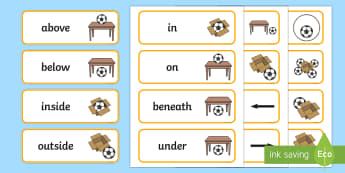 Positional Language Word Cards - australia, word cards, words, cards, positional language, position, language, english, visual aids,A